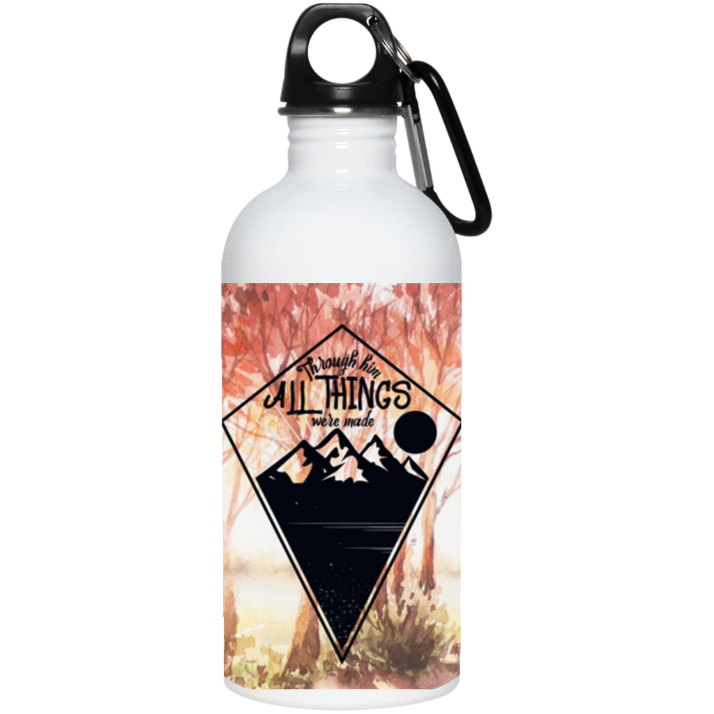 Through Him 20 oz. Stainless Steel Water Bottle