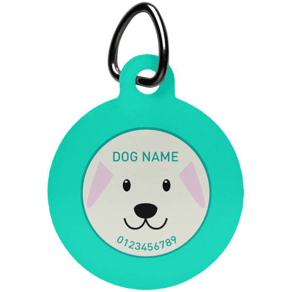 Personalized Dog Face Pet Tag - Shop Love God