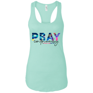 Pray Continually Ladies Ideal Racerback Tank