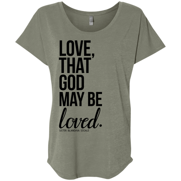 Love Ladies' Triblend Dolman Sleeve - Shop Love God