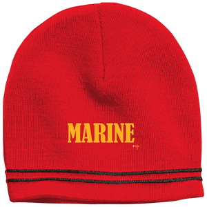 Marine Gold Colorblock Beanie