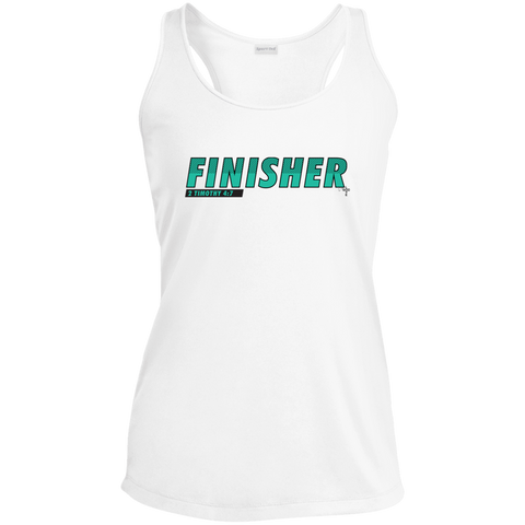 Finisher Ladies' Racerback Moisture Wicking Tank - Shop Love God