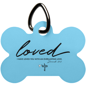 Loved Dog Bone Pet Tag