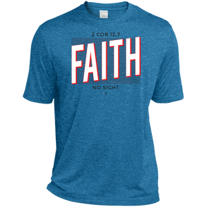 Faith No Sight Heather Dri-Fit Moisture-Wicking T-Shirt - Shop Love God