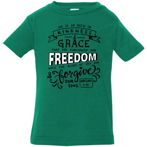 He Purchased Our Freedom Infant Jersey T-Shirt - Shop Love God