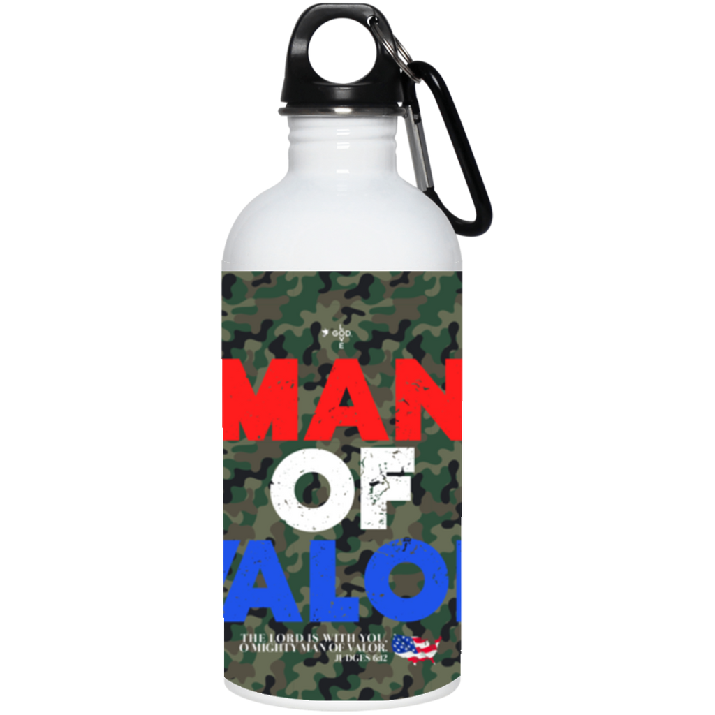 Man of Valor 20 oz. Stainless Steel Water Bottle