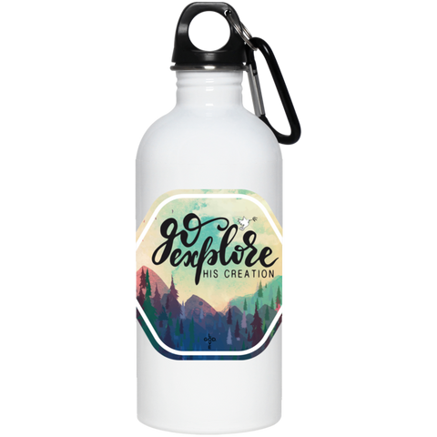 Go Explore 20 oz. Stainless Steel Water Bottle - Shop Love God