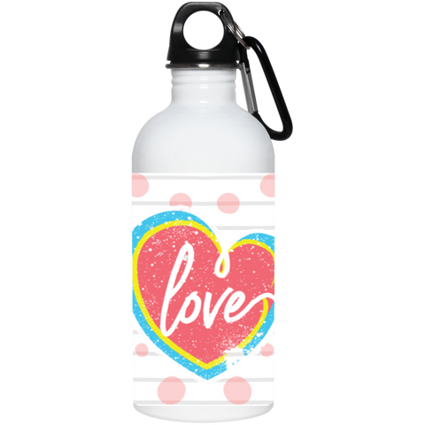 Love 20 oz. Stainless Steel Water Bottle