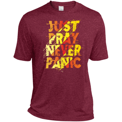 Just Pray Heather Dri-Fit Moisture-Wicking T-Shirt