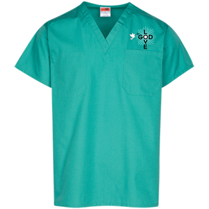 Love God and Dove Scrub Top