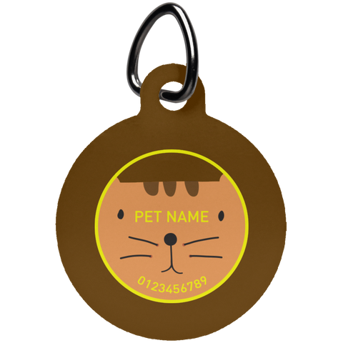 Personalized Cat Face Pet Tag