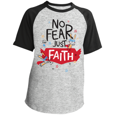 Just Faith Youth SS Colorblock Raglan Jersey - Shop Love God