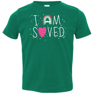 I Am Saved Toddler Jersey T-Shirt - Shop Love God