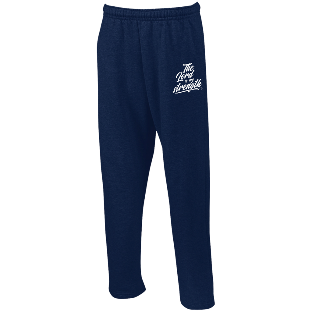 The Lord Is My Strength  Open Bottom Sweatpants with Pockets - Shop Love God