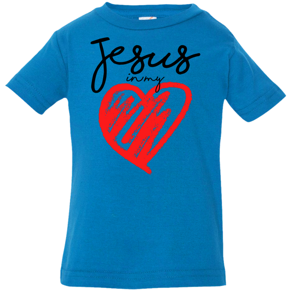 Jesus In My Heart Infant Jersey T-Shirt - Shop Love God