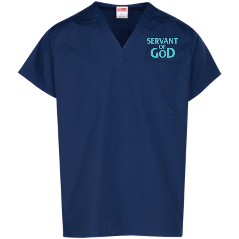 Servant of God Scrub Top