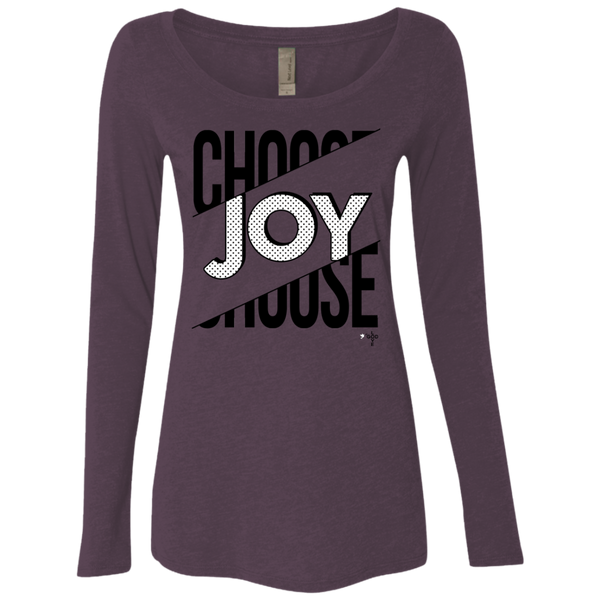 Choose Joy Ladies' Triblend Long Sleeve Scoop - Shop Love God