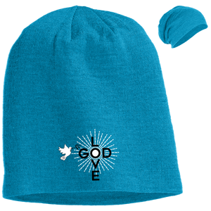 Love God Logo Slouch Beanie - Shop Love God