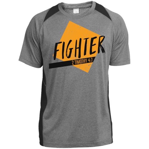 Fighter Heather Colorblock Poly T-Shirt - Shop Love God