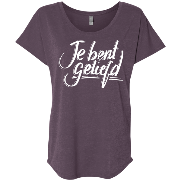 Je Bent Geliefd Ladies' Triblend Dolman Sleeve - Shop Love God