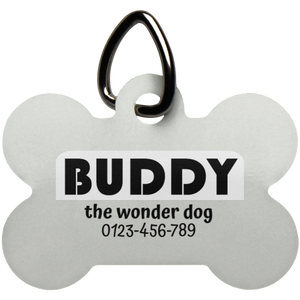 Personalized Bone Pet Tag