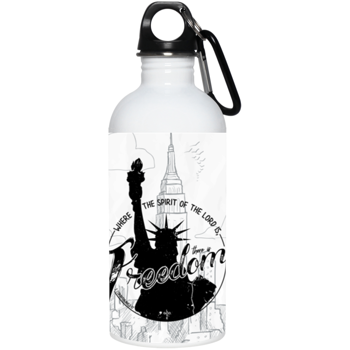 Freedom 20 oz. Stainless Steel Water Bottle - Shop Love God