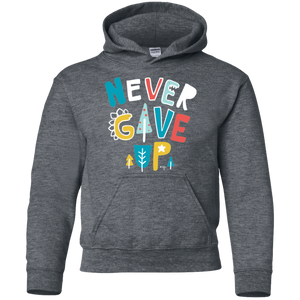 Never Give Up Youth Pullover Hoodie
