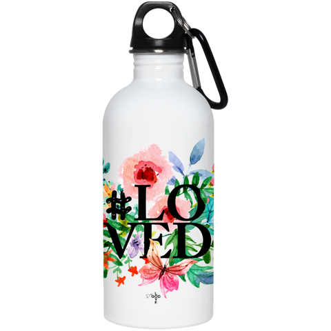 #Loved 20 oz. Stainless Steel Water Bottle - Shop Love God