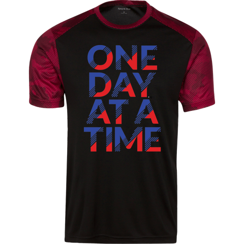 One Day At A Time CamoHex Colorblock T-Shirt