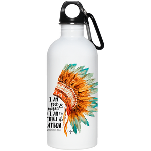 Chief of the Nation 20 oz. Stainless Steel Water Bottle - Shop Love God
