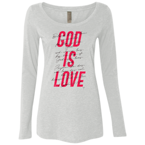 God Is Love Ladies' Triblend Long Sleeve Scoop - Shop Love God