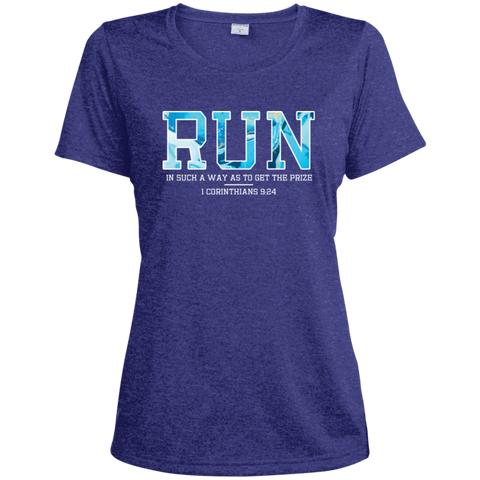 Run Ladies' Heather Dri-Fit Moisture-Wicking T-Shirt