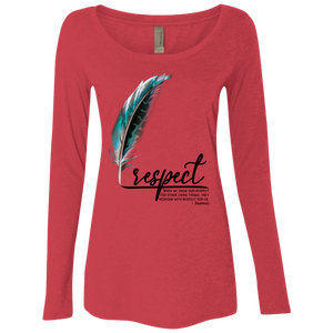 Respect Triblend Long Sleeve Scoop - Shop Love God