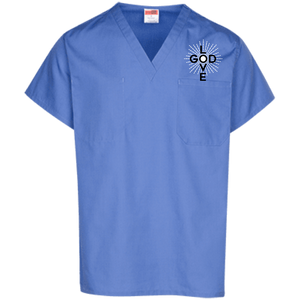 Love God Scrub Top