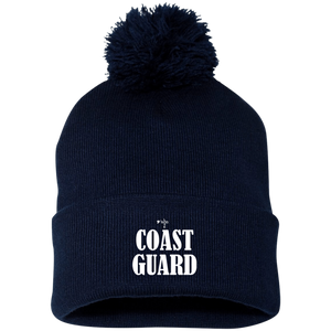 Coast Guard Pom Pom Knit Cap - Shop Love God