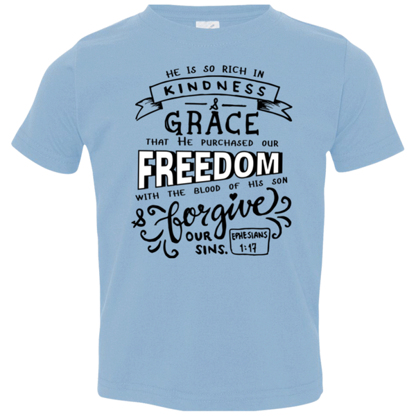 He Purchased Our Freedom Kids Jersey T-Shirt - Shop Love God