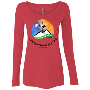Love And Its Manifestations Ladies' Triblend Long Sleeves - Shop Love God