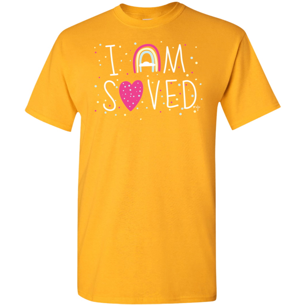 I Am Saved 5.3 oz 100% Cotton T-Shirt - Shop Love God