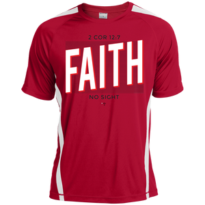 Faith No Sight Colorblock Dry Zone Crew - Shop Love God
