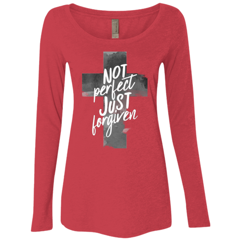 Forgiven Ladies' Triblend Long Sleeves - Shop Love God
