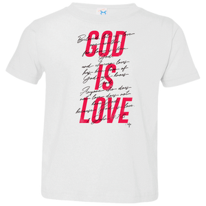 God Is Love Toddler Jersey T-Shirt - Shop Love God