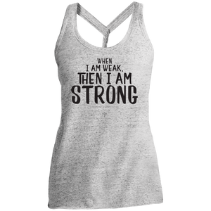 I Am Strong Ladies Cosmic Twist Back Tank - Shop Love God