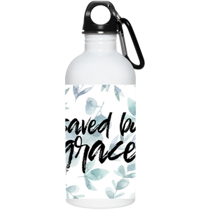 Saved by Grace 20 oz. Stainless Steel Water Bottle