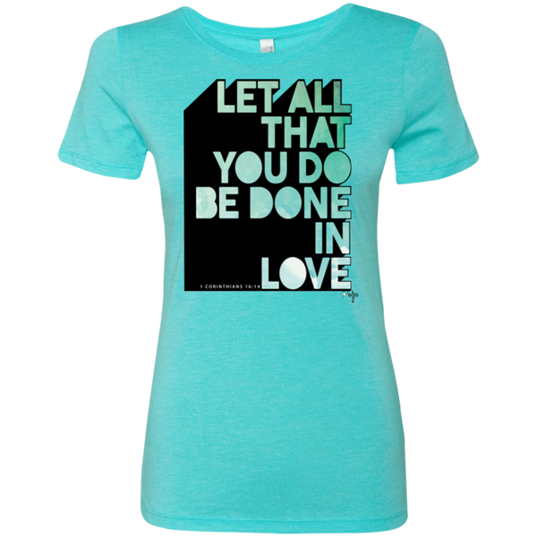Done In Love Ladies' Triblend T-Shirt - Shop Love God