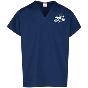 Be Bold Be Love Scrub Top - Shop Love God