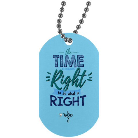 Do What Is Right  Silver Dog Tag - Shop Love God