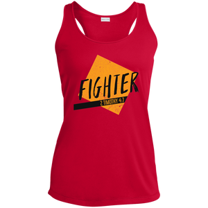 Fighter Ladies' Racerback Moisture Wicking Tank - Shop Love God