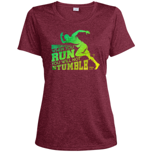 When You Run Ladies' Heather Dri-Fit Moisture-Wicking T-Shirt