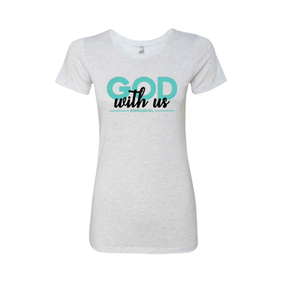 Emmanuel Ladies' Triblend T-Shirt - Shop Love God