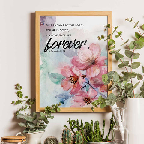 His Love Endures Forever Printable Digital Wall Art - Shop Love God